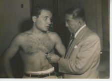 New York, Jake La Motta, boxing Vintage silver print Tirage argentique  15x2