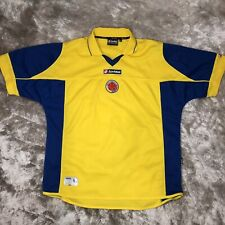 Official LOTTO 2003-2004 Colombia National DTP Yellow Home FIFA Soccer Jersey XL