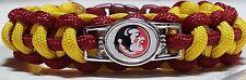 Florida State Seminoles; FSU NCAA Handmade Custom Sized Paracord Bracelet