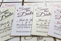 50 cards Personalised Magnetic Wedding Save the Date Cards and Envelopes FREE PP