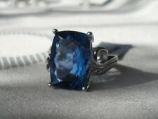 7.70CTS COLOUR CHANGE FLUORITE STERLING SILVER RING Tanzanite blue/pink RARE WOW