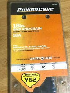 """NEW PowerCare Y62 18"""" Bar & Chain Chainsaw Combo 463-468 18A file size 5/32"""""""