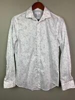 Calvin Klein Mens Floral Size XS Button Down Infinite Fit Slim Shirt