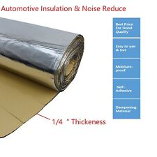 Car Sound Deadener, Automotive Insulation Noise Reduce Backed Mat Adhesive  1/4