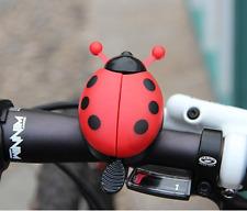 Kids Bicycle Bell Ladybug Beetle Boll Ladybird Alarm Bike Metal Girls Red