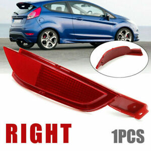 Right Side Rear Bumper Reflector Fog Light Lens For Ford Fiesta Mk7 2008-2012