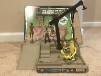Vintage 1983 Star Wars ROTJ Jabba The Hutt Dungeon, Complete w/ 3 figures