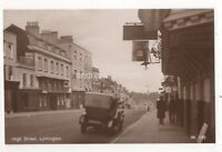 High Street Lymington Hampshire 1920s RP Postcard 058c