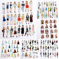 16-30Pcs/bag Fashion Girls Adhesive Paper Sticker DIY Diary Scrapbooking Deca Cw