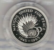 More details for boxed 1995 piedfort silver proof £2 united nations anniversary with certificate.
