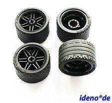 Lego Technik 4 x Reifen 37 x 22 schwarz Felge 55978 56145 42026 Neu