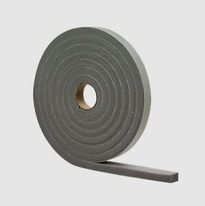 "02279 M-D Gray Foam WEATHER STRIP TAPE Adhesive Draft Gap Seal 1/4""x 1/2"" x 17'"
