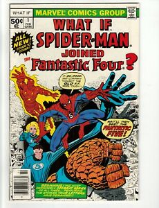What If #1 Spider-Man Joined The Fantastic Four  NM (1st Print) 1977