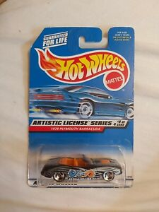 Hot Wheels 1970 Plymouth barracuda artistic license #4 of 4 1997