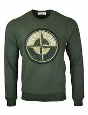 Stone Island Embroidered Logo Khaki Sweatshirt - 63094