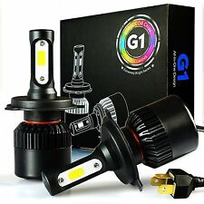 JDM ASTAR G1 8000LM Extremely Bright H4 9003 COB LED Headlights Xenon White Bulb