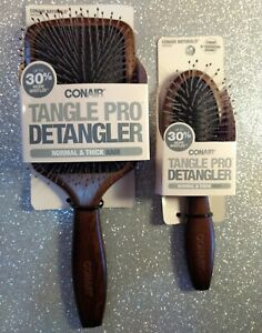 CONAIR NATURALS Tangle Pro Detangler Normal Thick Hair Paddle Brushes Travel Two