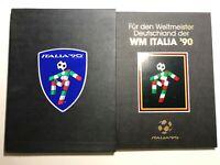 1990 FIFA Folder Libro con Emissioni Italia '90 + Francobollo Germania Campione