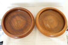 Vintage/Antique PairTurned Oak Wooden PedestalBowls.