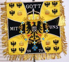 German Prussian Empire Kingdom Kaiser Army Banner Flag Eagle Cavalry Hussar War