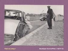 PHOTO CONSTAT GENDARMERIE ACCIDENT1960 VOITURE PEUGEOT 404 BOUCHES DU RHÔNE -P52