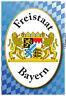 Freistaat Bayern Motiv 2 Blechschild Schild gewölbt Metal Tin Sign 20 x 30 cm