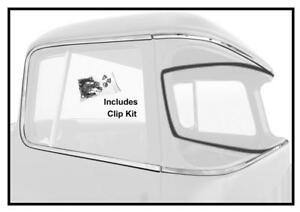 1955-59 Chevy/ GMC Pickup Cab Deluxe Molding Stainless w/Clips 6-Pieces New