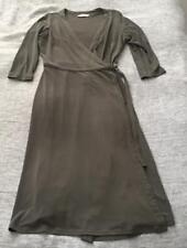 Womens JACQUI E Grey Wrap Around Dress Belt Loop Corporate Size XS