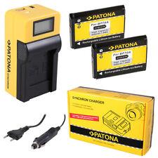 2x Batteria Patona + caricabatteria Synchron LCD USB per Samsung ST700,ST71,ST72