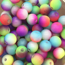 5mm 100pcs Round Pearl Matte multicolored Loose Beads Spacer Jewelry Making #04
