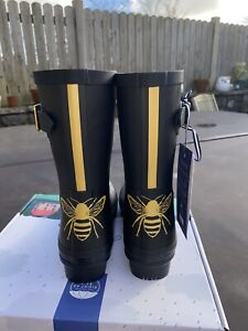 Joules Size 5 Bee Print Mid Height Molly Wellies - Perfect Present! New!