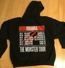 Rihanna Monster Tour Hoodie Sweatshirt Black Size XL Hip Hop