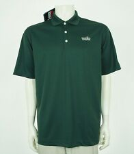 New Nike Golf Dri-Fit Dark Green UV Tech Golf Polo Shirt Mens Large