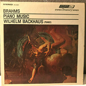 "WILHELM BACKHAUS - Brahms Piano Recital - 12"" Vinyl Record LP - EX"
