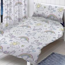 Pastel unicornios Junior Infantil Juego Funda Edredón Cama para niño multi /