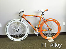 Caraci Bike Fixed Gear Bike Fixie Alloy Urban Bike Flip Flop Hub F1 Orange