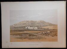 David Roberts Authentic 1856 Quarto Lithograph Plate 188 Medinet Habu, Thebes