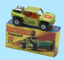 MATCHBOX SUPERFAST: 13E BAJA BUGGY - PALE GREEN - BOX H1- MINT