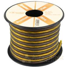 25 FT True 16 Gauge Speaker Wire AWG Pro Cable Orange Black Car Home Audio Spool