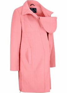 Kurzer Umstandsmantel Tragemantel Gr. 46 Rosa Damen-Jacke Umstand-Mantel Neu*