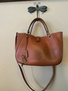 Dooney and Bourke Alto Small Camilla satchel in saddle brown