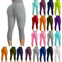 Women's Push Up Yoga Pants High Waist Ruched Leggings Sports Fitness Workout G21