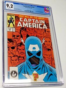 CAPTAIN AMERICA #333 CGC 9.2 White Pages John Walker 1st First Cap MARVEL