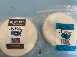2 JFJ Double Arm White Buffing Pad - Brand NEW Genuine OEM