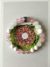 Spiritual Protection Bracelets Stones Pink/White Chalcedony with Sterling Silver