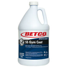 BETCO SS GYM COAT, HIGH TRAFFIC WOOD FLOOR FINISH, ONE GALLON, $177 RETAIL!