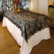 Black Spiderweb Lace Tablecloth Christmas Halloween Party Table Decoration Cloth