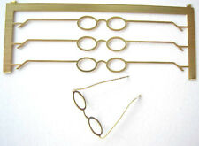 1/12th scale 4 pairs SPECTACLES  vintage style reading glasses dollshouse HB