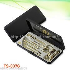 8 Pcs Three Seven Gold Nail Clipper Kit - Stainless Steel (ts-037g) Aussie Stock