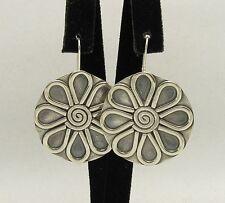 orecchini argento sterling 925 grande fiore artigianale nuova e000325